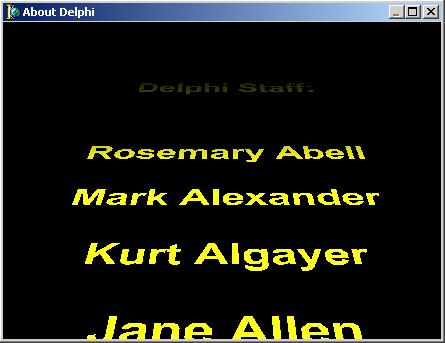 Скроллер из звездных войн в Delphi