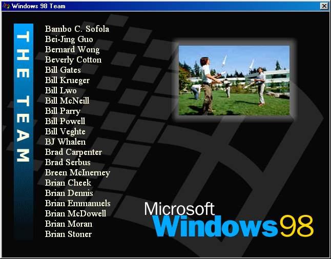 Пасхальное яйцо в Windows 98