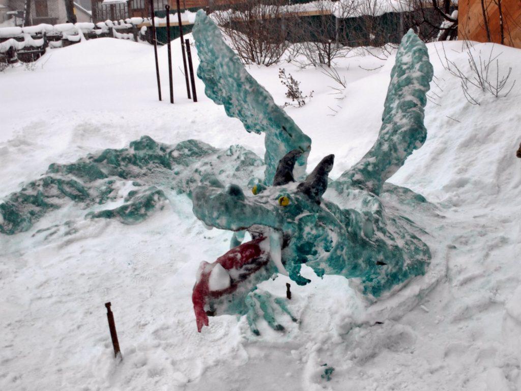 Зеленый ледяной дракон
