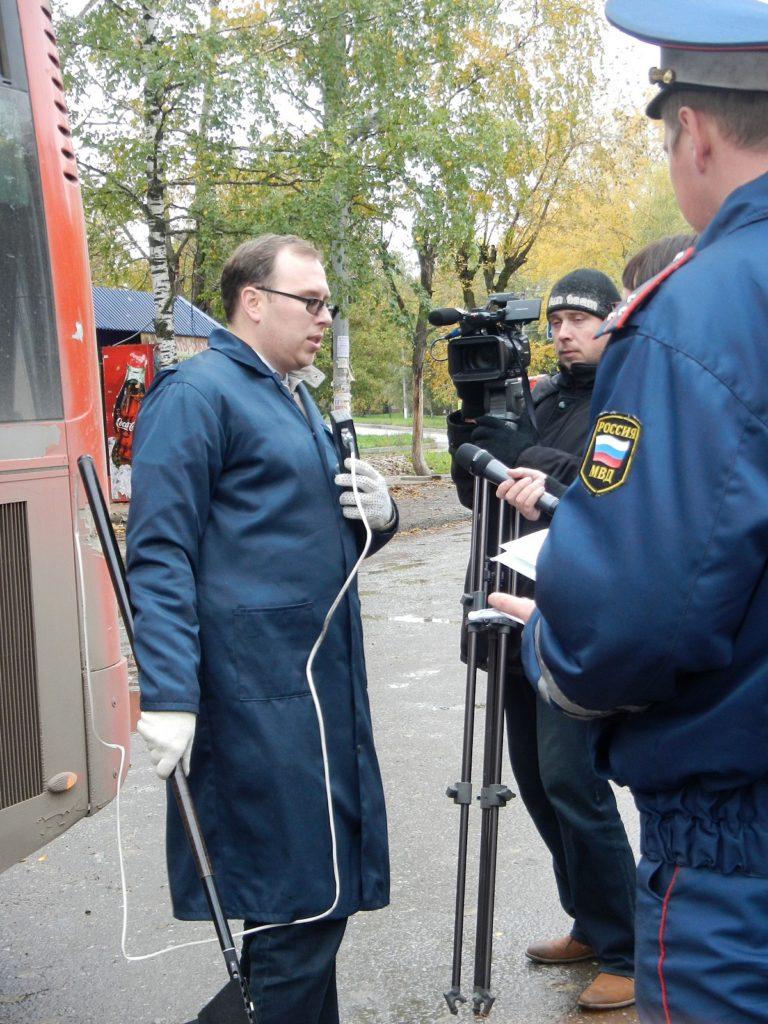 Интервью и съемка показаний дымомера