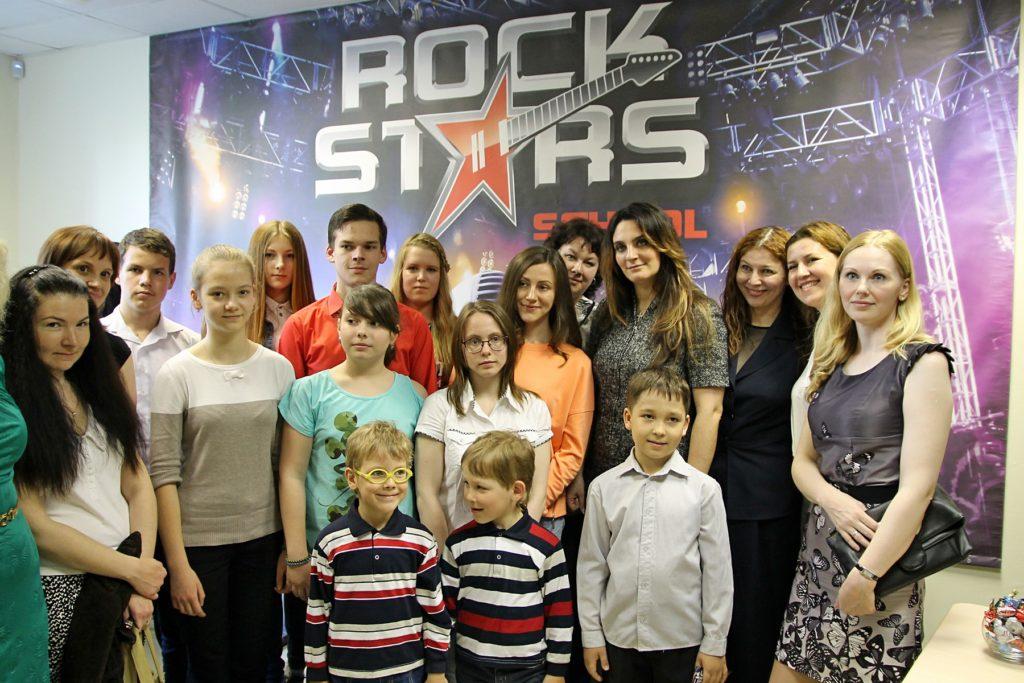 Елена Ваенга и ученики школы Rock Stars School