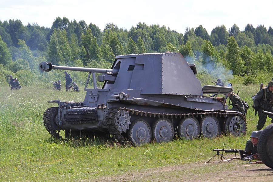 Немецкая САУ - реконструкторский фестиваль «Живая история» 2019