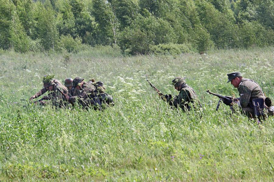 немецкие войска наступают - реконструкторский фестиваль «Живая история» 2019