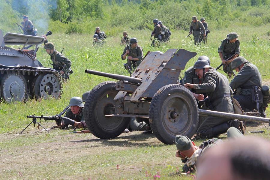 Немецкое противотанковое орудие PAK-36 - реконструкторский фестиваль «Живая история» 2019