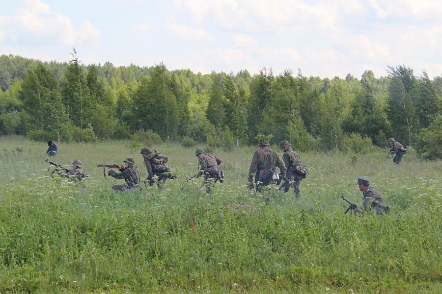 Наступление немецких войск - реконструкторский фестиваль «Живая история» 2019