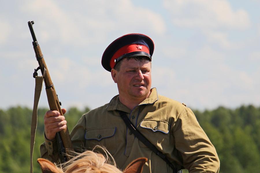 Портрет воина конницы советской армии - реконструкторский фестиваль «Живая история» 2019