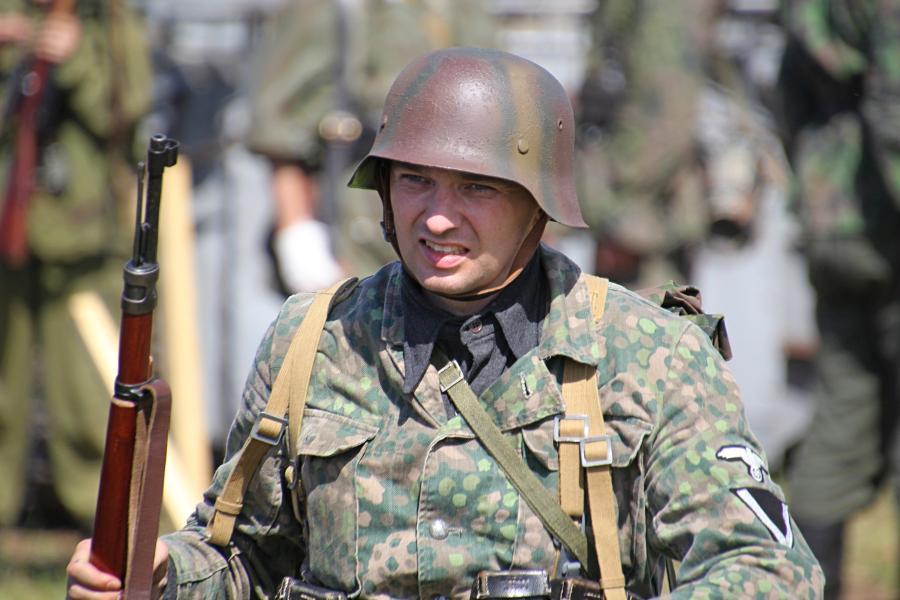 Портрет немецкого солдата - реконструкторский фестиваль «Живая история» 2019