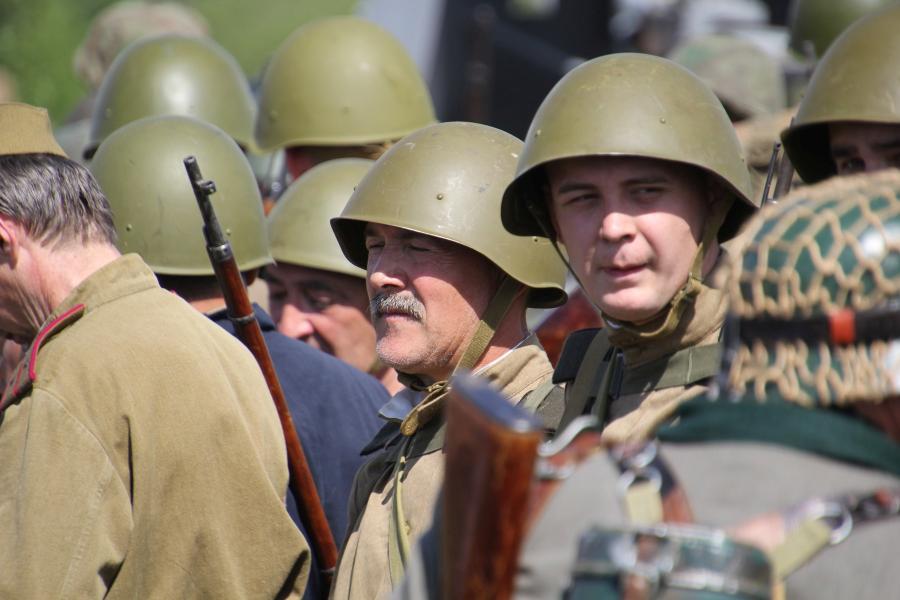 Воины советской армии - реконструкторский фестиваль «Живая история» 2019