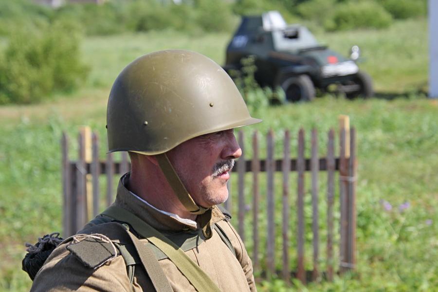 Портрет советского солдата - реконструкторский фестиваль «Живая история» 2019