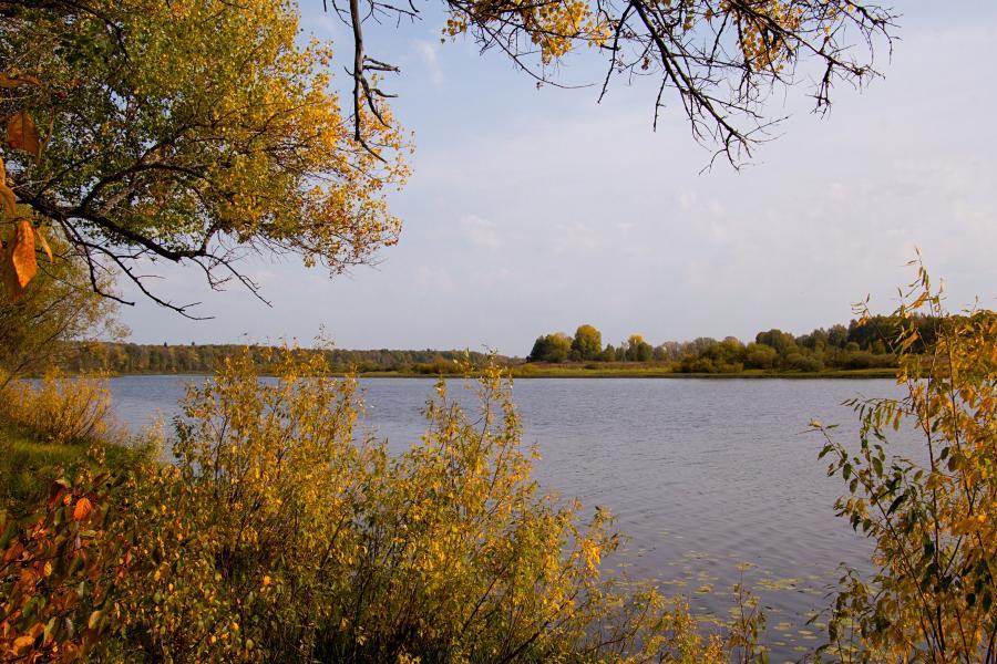 Золотая осень в заповеднике Нургуш: берег озера