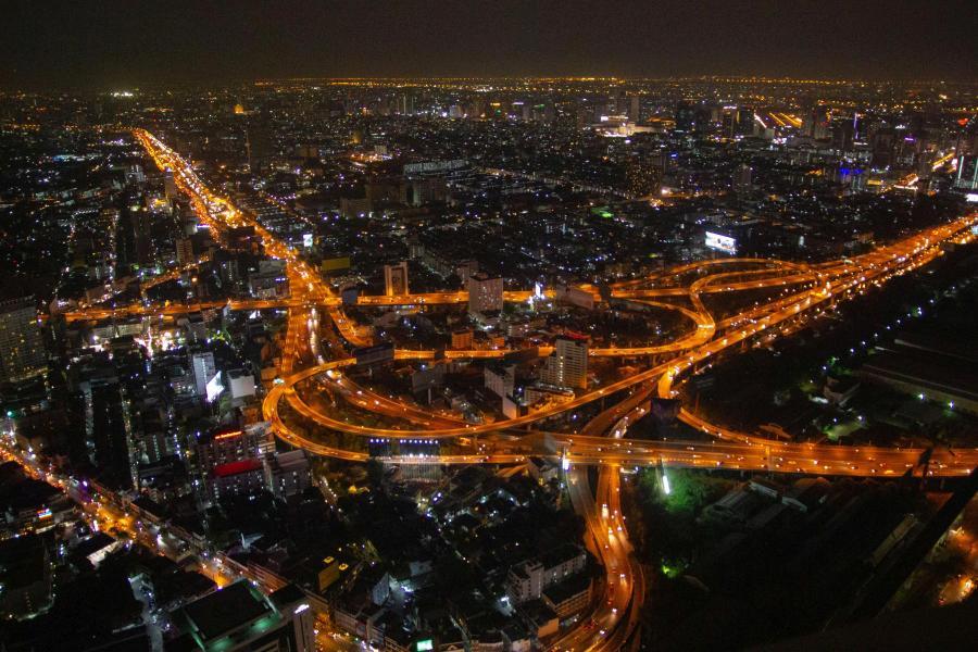 Ночной Бангкок с высоты (Бангкок, Таиланд, январь 2015) - фотовыставка «С камерой по миру»