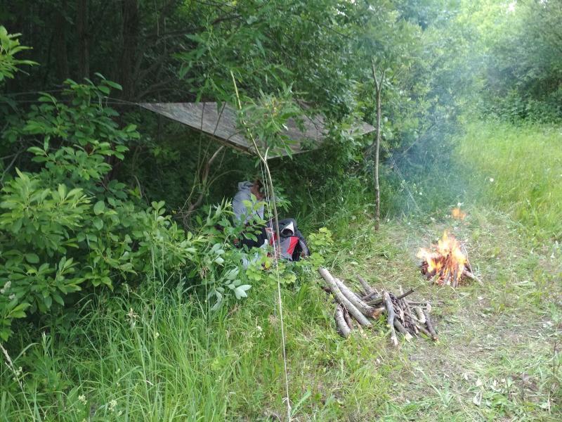 Установили тент, разожгли костер - поход выходного дня в Первомайский, Слободской район