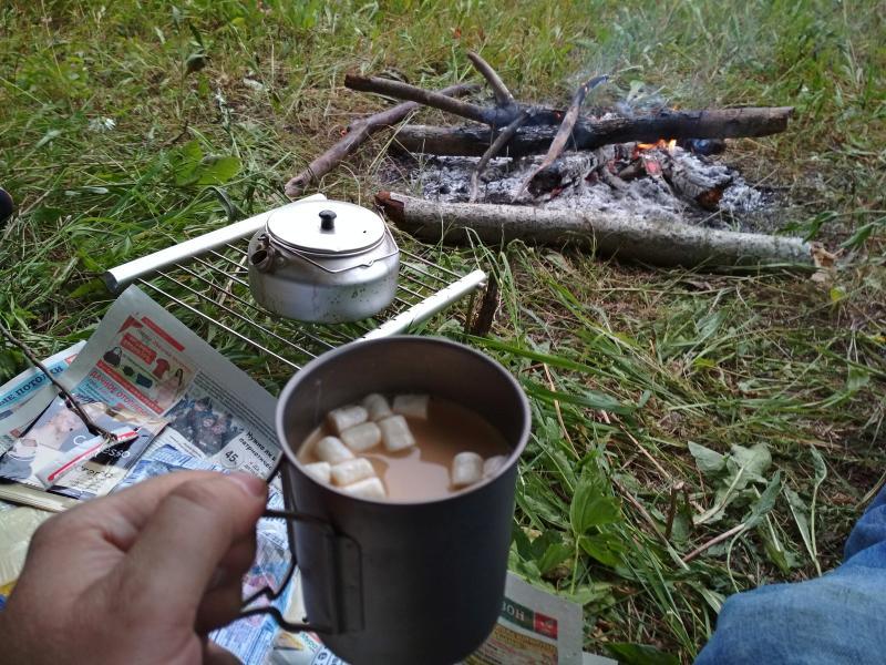 Заварной кофе с маршмелками - поход выходного дня в Первомайский, Слободской район