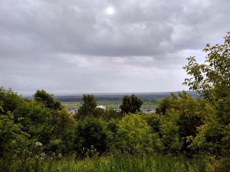 Вид с Подчуршинского городища в сторону Вятки - поход выходного дня в Первомайский, Слободской район