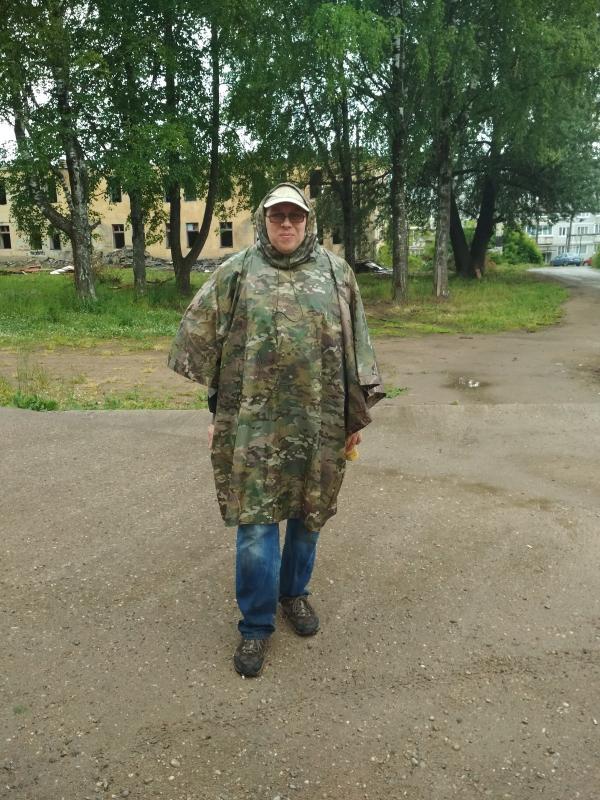 Пончо-тент на мне - поход выходного дня в Первомайский, Слободской район