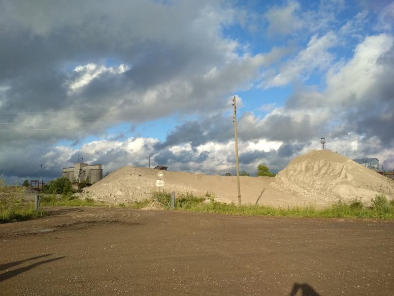 Цеентный завод, отвалы дробленого известняка - поход выходного дня в Первомайский, Слободской район