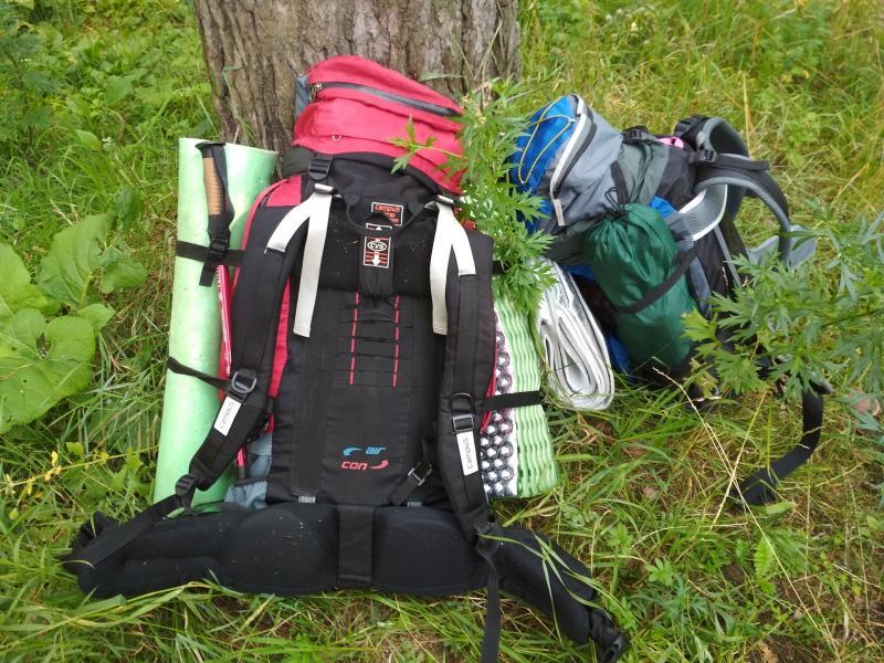 Наши рюкзаки в начале путешествия