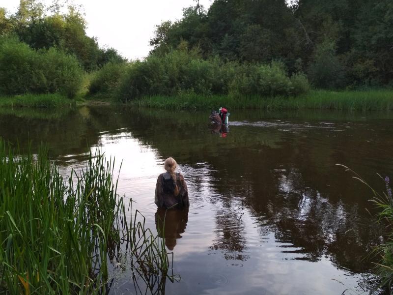 Переправа вброд через речку Ивкину