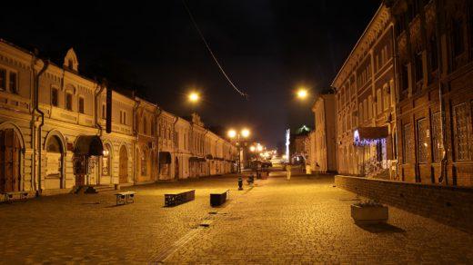 Улица Спасская ночью