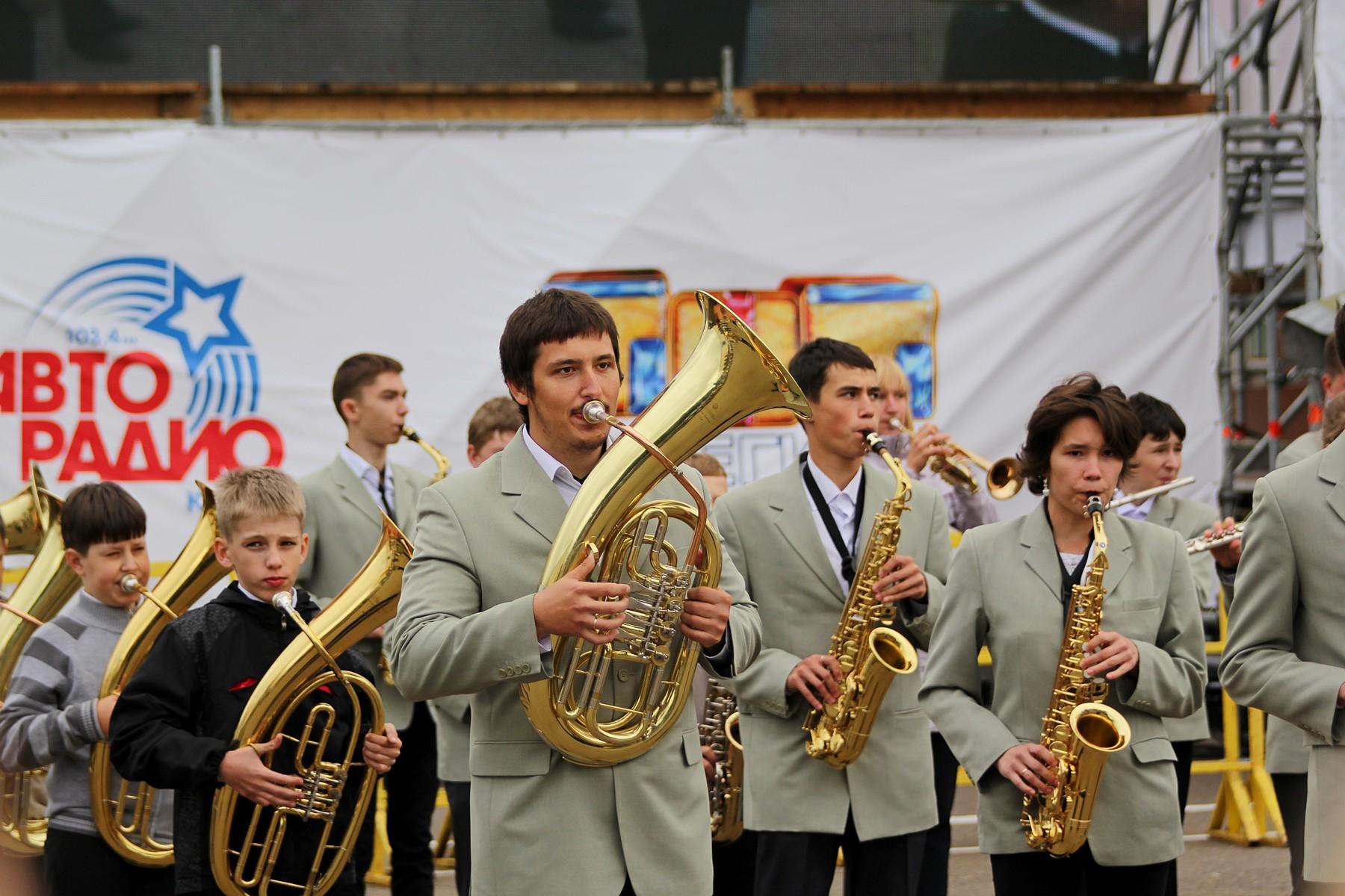 День города 2014: фестиваль духовых оркестров