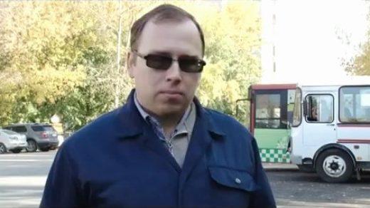 И снова проверка дымности автобусов с телевизионщиками