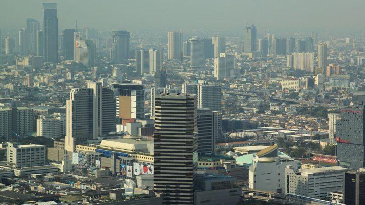 Вид на дневной Бангкок из небоскрёба Baiyoke Tower II