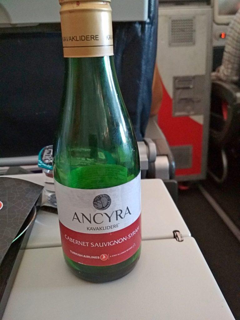 вино Ancyra на рейсе турецких авиалинй